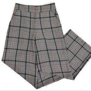 H&M Plaid Wide Leg Crop Pants